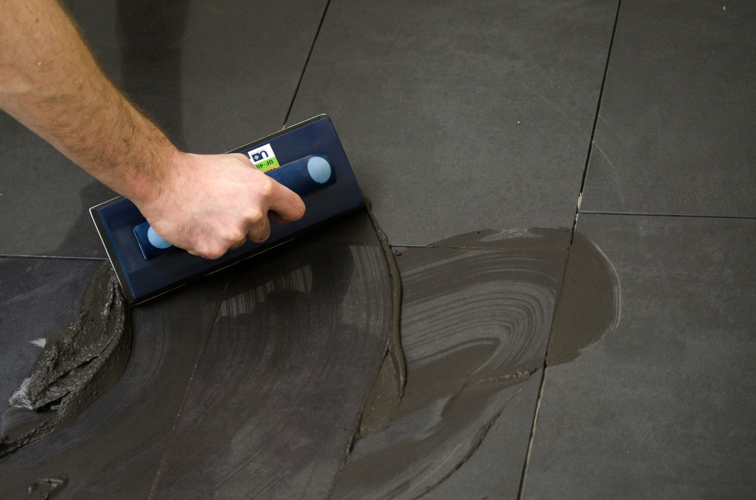 uberfloat grout float in use